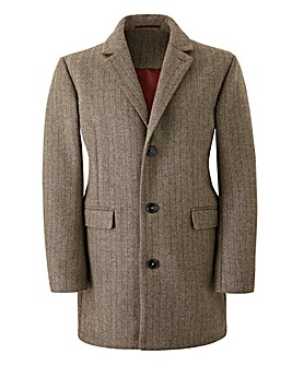 Brown SB Herringbone Coat Regular