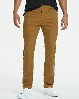 Slim Tabacco Gaberdine Jeans 33 in