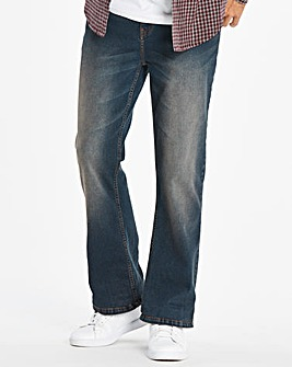 Bootcut Darkwash Jeans 35 in