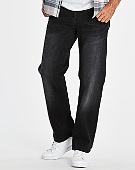 Stretch Loose Black Jeans 29 in