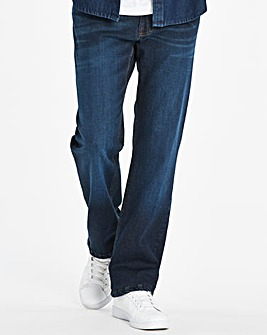 Stretch Loose Indigo Jeans 33 in
