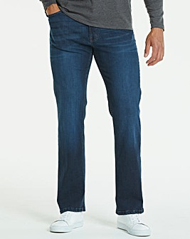 Jacamo Indigo Stretch Loose Jeans 29in