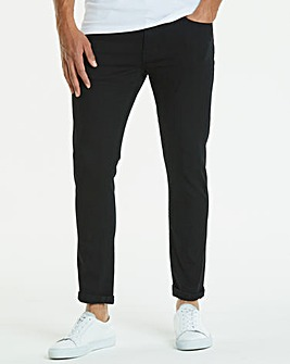 Jacamo Black Stretch Skinny Jeans 31in