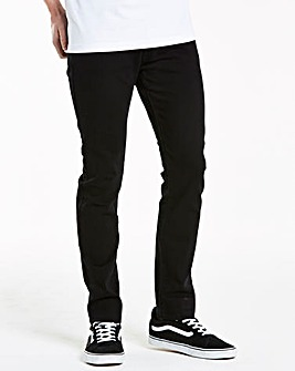 Stretch Skinny Black Jeans 33 in