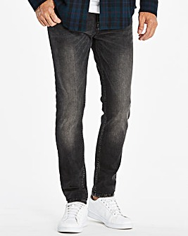 Skinny Washed Black Jeans 31 in