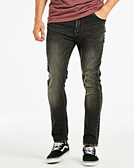 Skinny Washed Black Jeans 33 in
