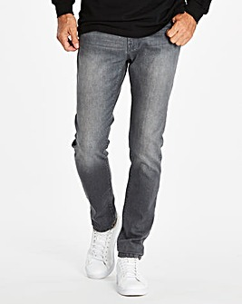 Skinny Washed Grey Jeans 29 in