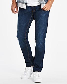 Skinny Washed Indigo Jeans 33 in