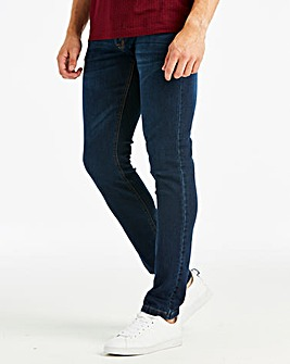 Skinny Washed Indigo Jeans 31 in