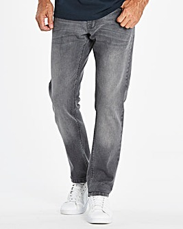 Slim Washed Grey Jeans 33 in