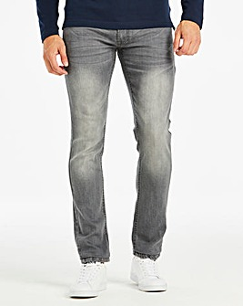 Slim Washed Grey Jeans 31 in