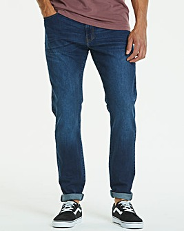 Jacamo Indigo Slim Washed Jeans 29in
