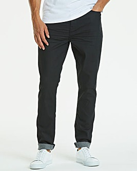 Slim Coated Black Jeans 33 in