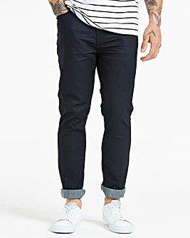 Slim Coated Indigo Jeans 35 in