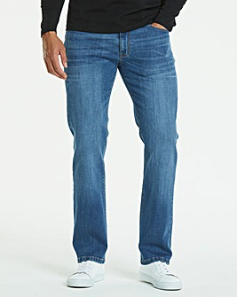 Straight Stonewash Jeans 33 in
