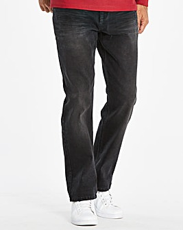 Straight Washed Black Jeans 31 in
