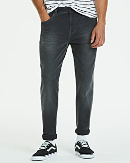 Tapered Washed Black Jeans 31 in