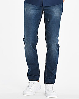 Slim Washed Indigo Jeans 29 in