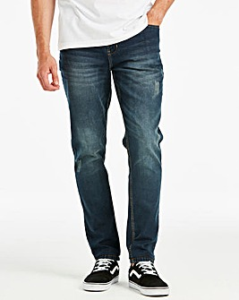 Tapered Stonewash Jeans 33 in