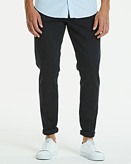 Tapered Solid Black Jeans 33 in