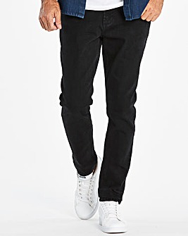 Slim Solid Black Jeans 33 in