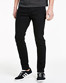 Slim Solid Black Jeans 31 in