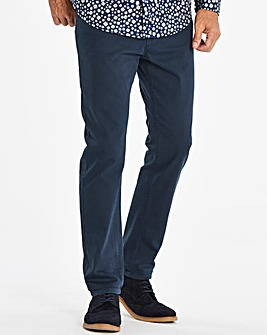 Slim Belted Navy Jeans 31 in