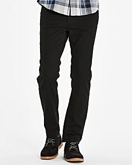 Slim Belted Black Jeans 33 in