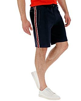 Navy Side Stripe Jog Shorts