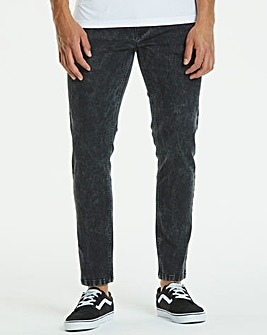 Skinny Acid Black Jeans 33 in
