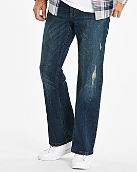 Loose Rip Indigo Jeans 31 in