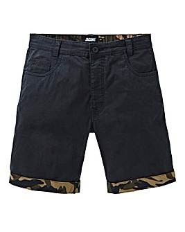 Black Cuff Trim Chino Shorts