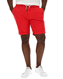 Red Drawcord Waist Shorts