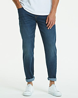 Straight Washed Indigo Jeans 29 in