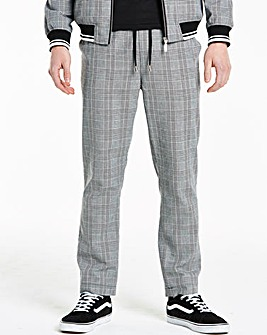 Grey Check Tapered Trousers 31 in
