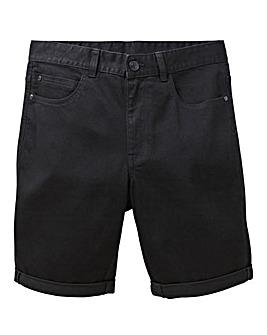 Black Slim Denim Shorts