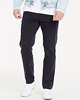 Navy Elasticated Waist Tapered Chinos