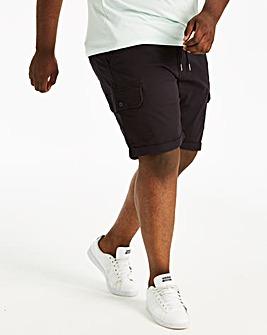 Navy Tie Waist Cargo Shorts