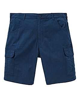 Navy Slim Cargo Shorts
