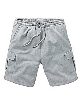 Grey Marl Jersey Cargo Shorts