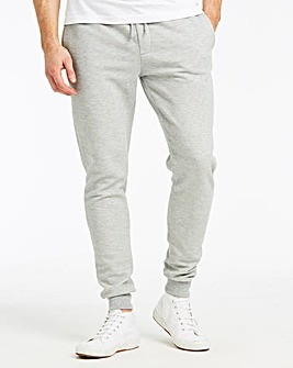 Grey Heavy Weight Waffle Jog Pants 31in