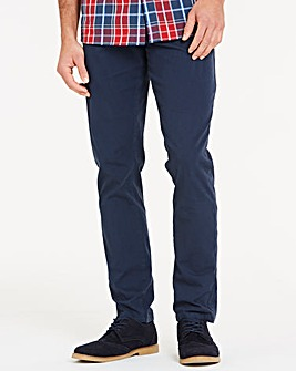 Navy Smart Belted Chinos