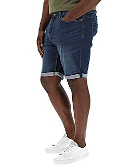 Indigo Slim Denim Shorts