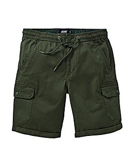 Khaki Tie Waist Cargo Shorts