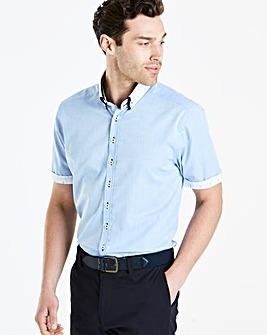 Blue S/S Double Collar Shirt L