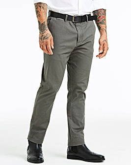Charcoal Smart Belted Chinos 29 in