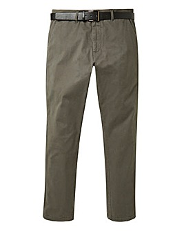 Charcoal Smart Belted Chino 33 in