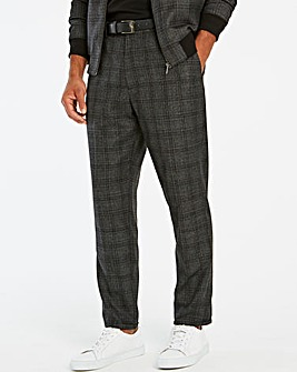 Jacamo Grey Checked Tapered Trouser 31in
