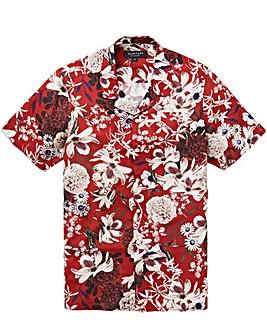 Jacamo Floral Print S/S Shirt Long