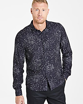 Flintoff By Jacamo Printed L/S Shirt L